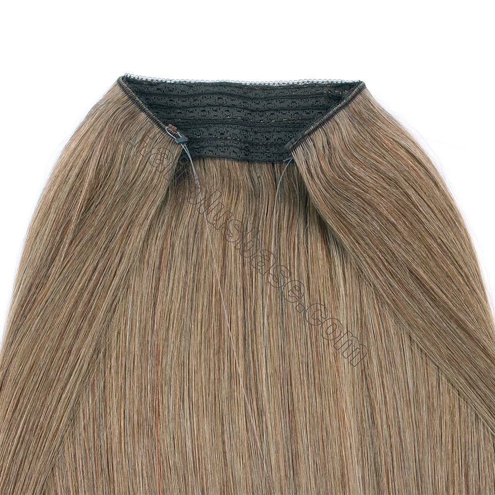 14 - 32 Inch Halo Hair Extensions #8 Body Wave/Straight 4