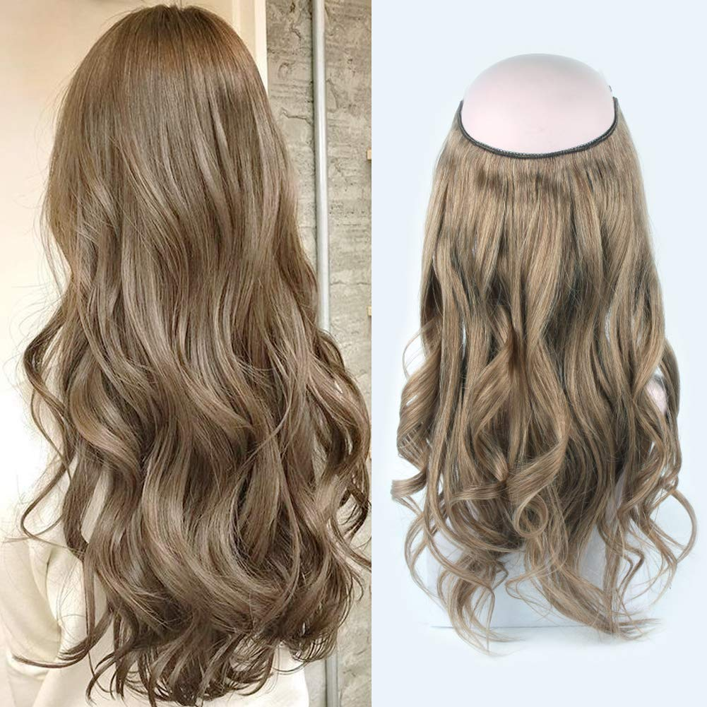14 - 32 Inch Halo Hair Extensions #8 Body Wave/Straight 8