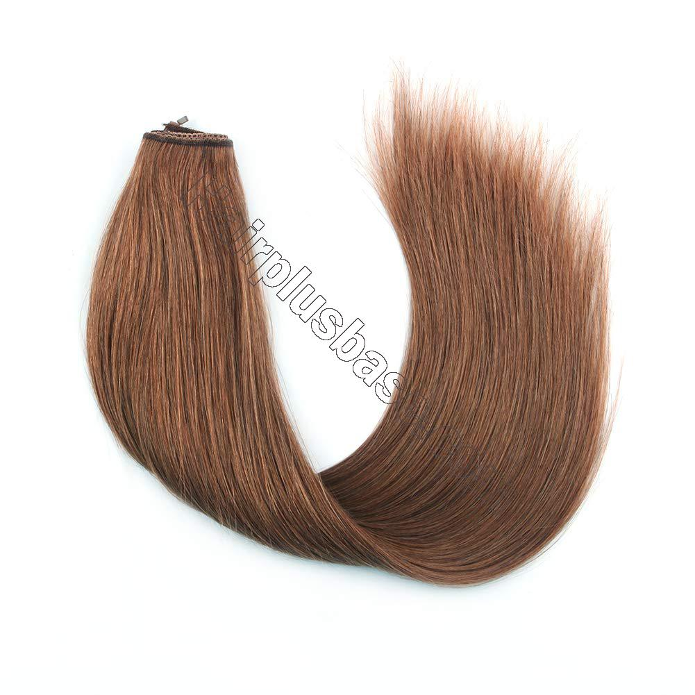 14 - 32 Inch Halo Human Hair Extensions #30 Body Wave/Straight 2
