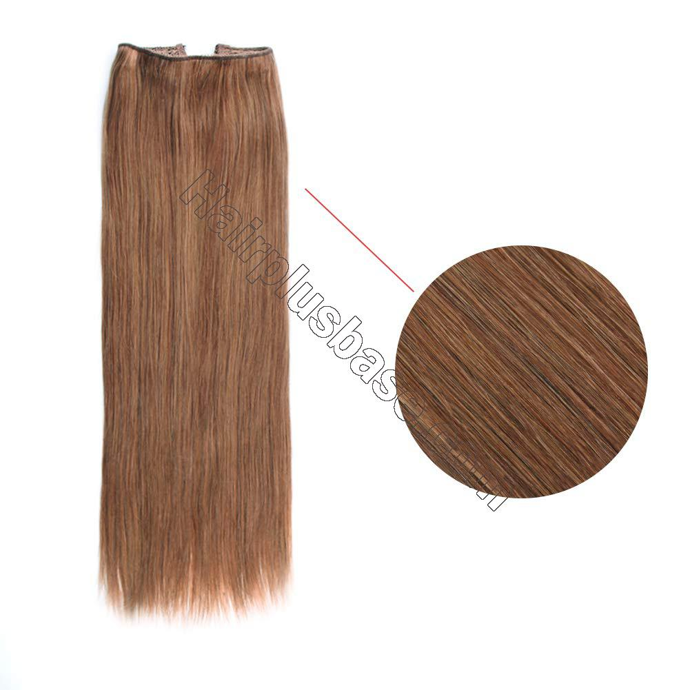 14 - 32 Inch Halo Human Hair Extensions #30 Body Wave/Straight 3