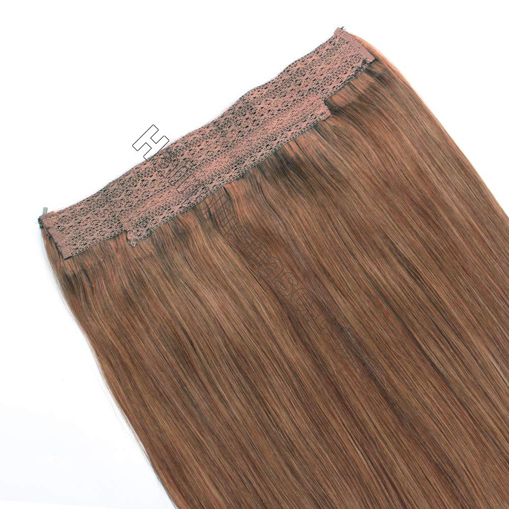 14 - 32 Inch Halo Human Hair Extensions #30 Body Wave/Straight 4