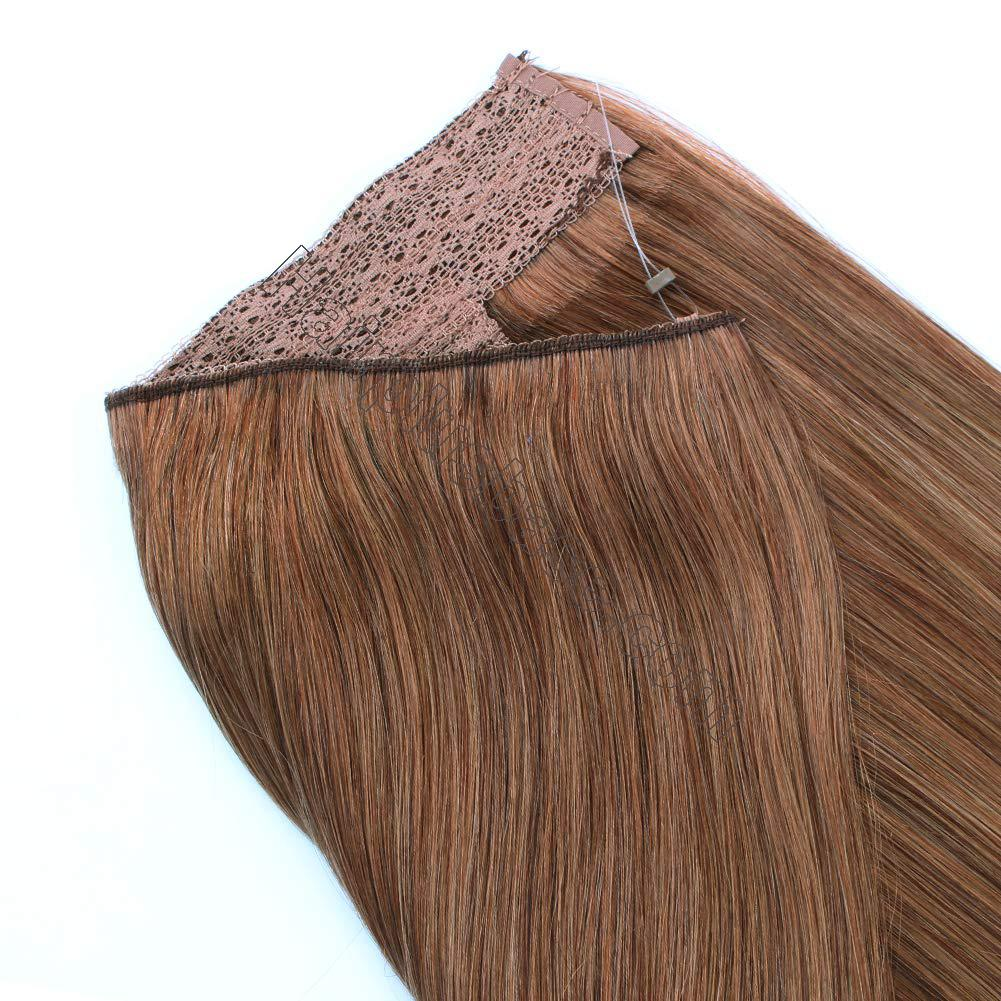 14 - 32 Inch Halo Human Hair Extensions #30 Body Wave/Straight 5
