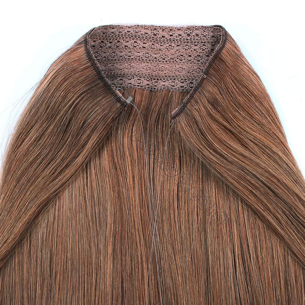 14 - 32 Inch Halo Human Hair Extensions #30 Body Wave/Straight 6