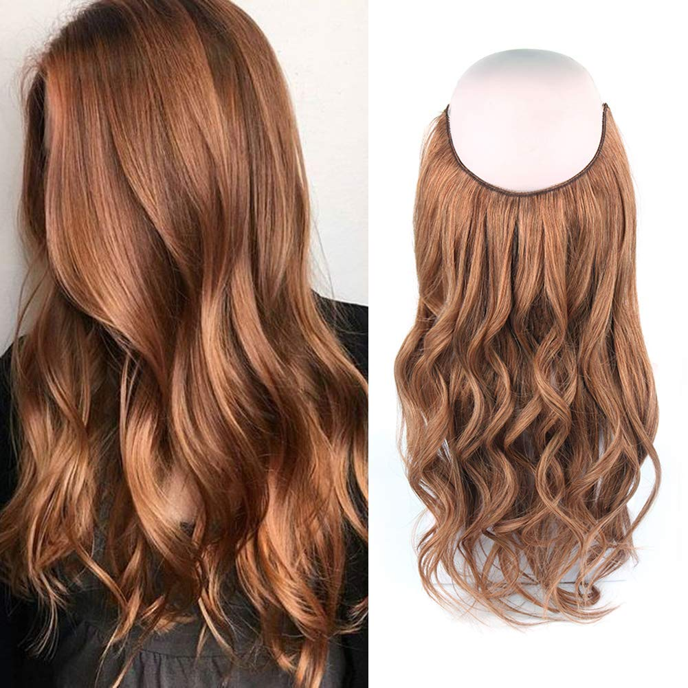 14 - 32 Inch Halo Human Hair Extensions #30 Body Wave/Straight 9