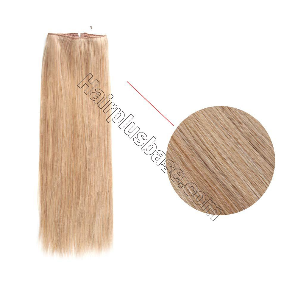 14 - 32 Inch Human Hair Halo Extensions #12 Body Wave/Straight 2