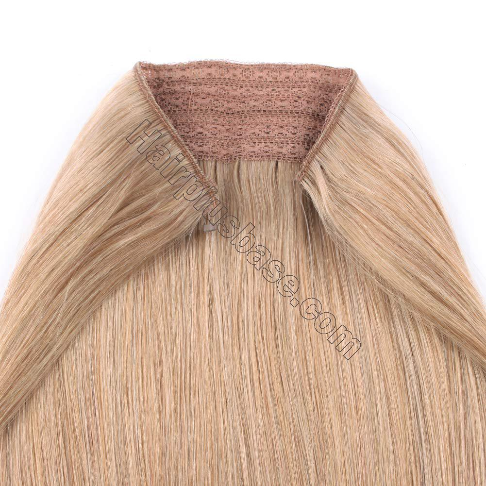 14 - 32 Inch Human Hair Halo Extensions #12 Body Wave/Straight 4