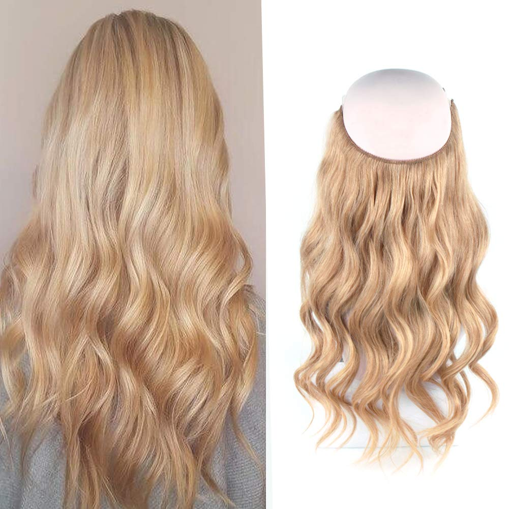 14 - 32 Inch Human Hair Halo Extensions #12 Body Wave/Straight 9