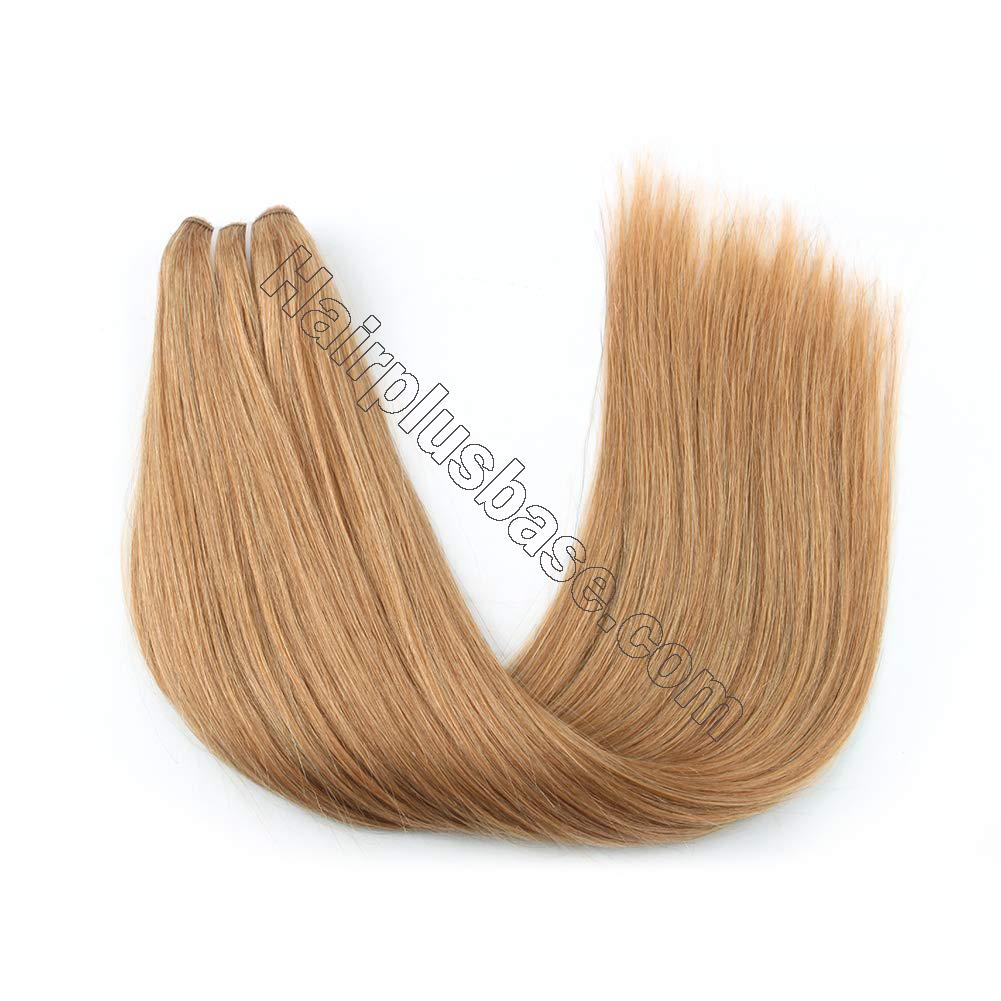 14 - 32 Inch Human Hair Halo Extensions #27 Body Wave/Straight 2