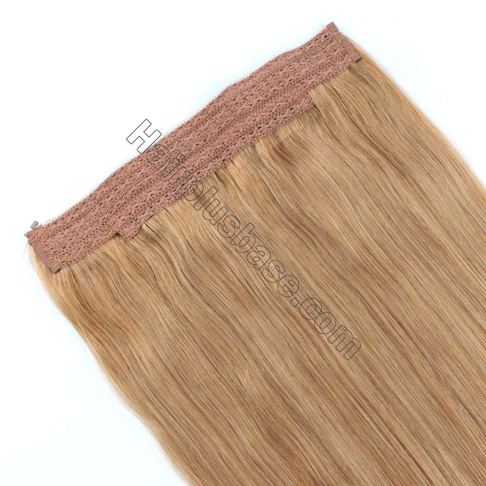 14 - 32 Inch Human Hair Halo Extensions #27 Body Wave/Straight 4