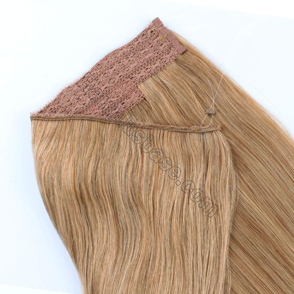 14 - 32 Inch Human Hair Halo Extensions #27 Body Wave/Straight 5