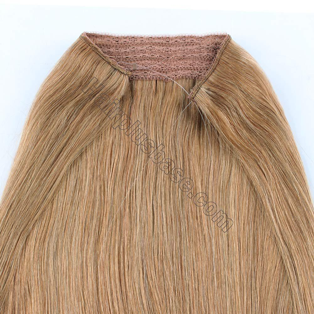 14 - 32 Inch Human Hair Halo Extensions #27 Body Wave/Straight 6