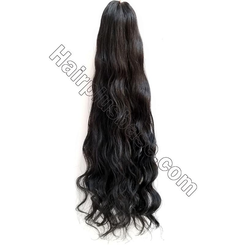 14 - 32 Inch Loose Curly Claw Ponytail Extension Human Hair 3