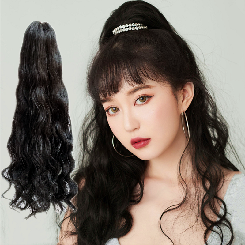 14 - 32 Inch Loose Curly Claw Ponytail Extension Human Hair 7