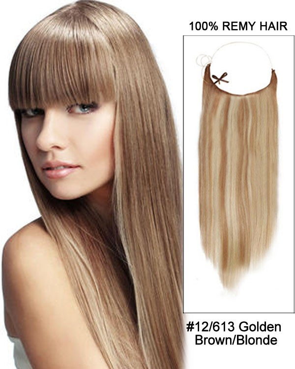 14 - 32 Inch Straight Secret Human Hair Extensions #12/613 Golden Brown Blonde