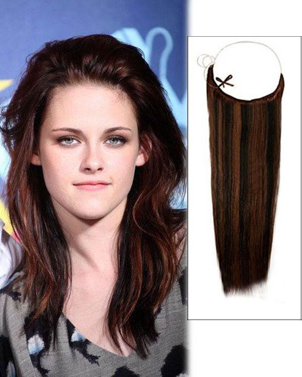14 - 32 Inch Straight Secret Human Hair Extensions #1B/30 Black Auburn