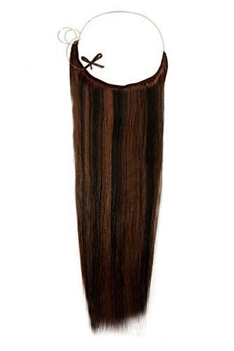 14 - 32 Inch Straight Secret Human Hair Extensions #1B/30 Black Auburn 1