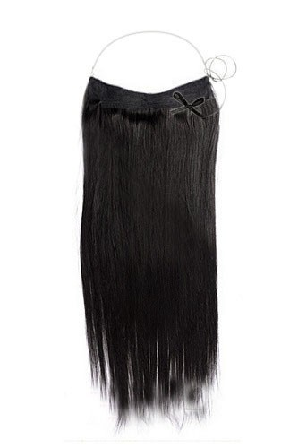 14 - 32 Inch Straight Secret Human Hair Extensions #1B Natural Black 1