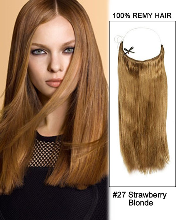 14 - 32 Inch Straight Secret Human Hair Extensions #27 Strawberry Blonde