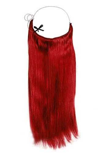 14 - 32 Inch Straight Secret Human Hair Extensions Red 1