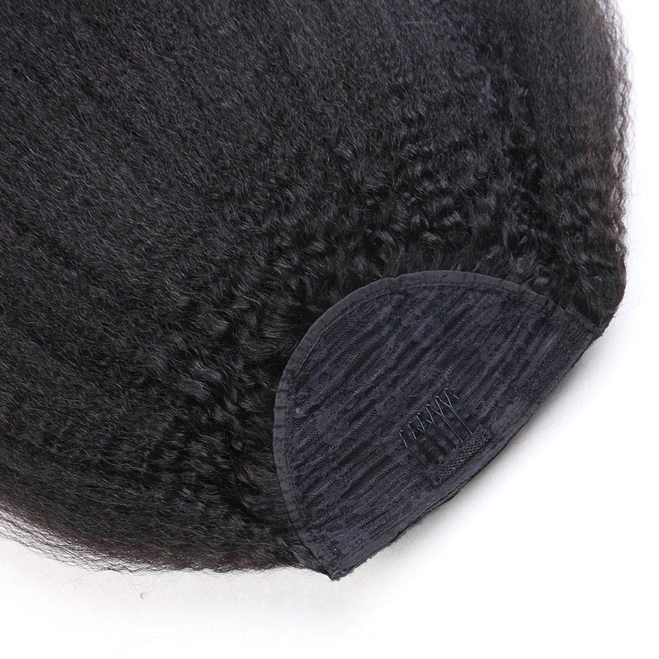 14-32 Inch Wrap Around Clip In Human Hair Ponytail Extensions 4