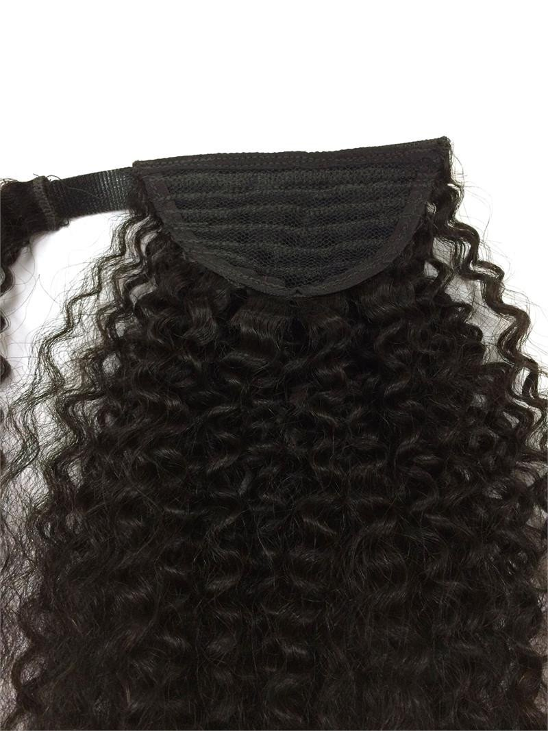 14-32 Inch Wrap Around Clip In Human Hair Ponytail Extensions 2