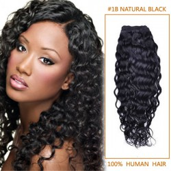 14 Inch #1b Natural Black Curly Brazilian Virgin Hair Wefts