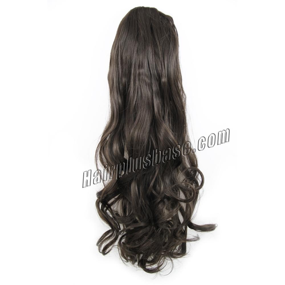 14 Inch Drawstring Human Hair Ponytail Casual Curly #2 Dark Brown no 1