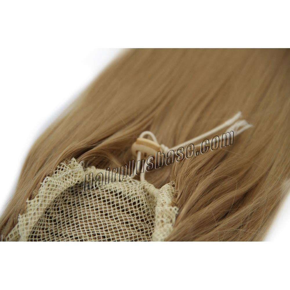 14 Inch Drawstring Human Hair Ponytail Glaring Straight #27 Strawberry Blonde no 2