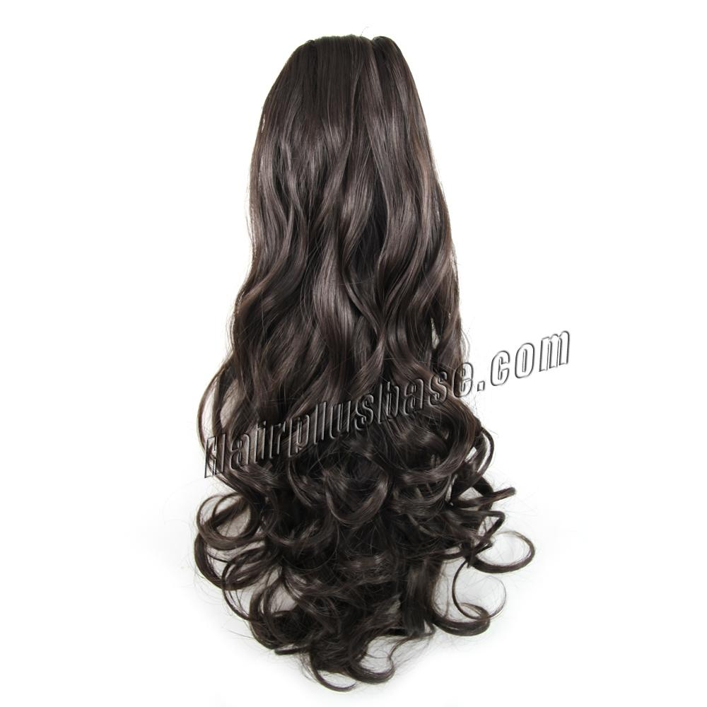 14 Inch Simple but Effective Drawstring Human Hair Ponytail Curly #4 Medium Brown no 1