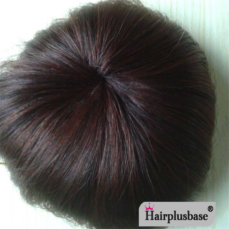 14x14cm Toupee Hairpiece 100% Human Hair Wig