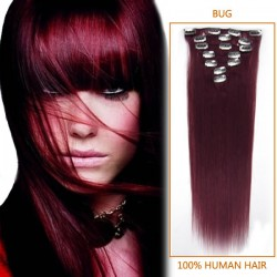 15 Inch Bug Clip In Human Hair Extensions 7pcs