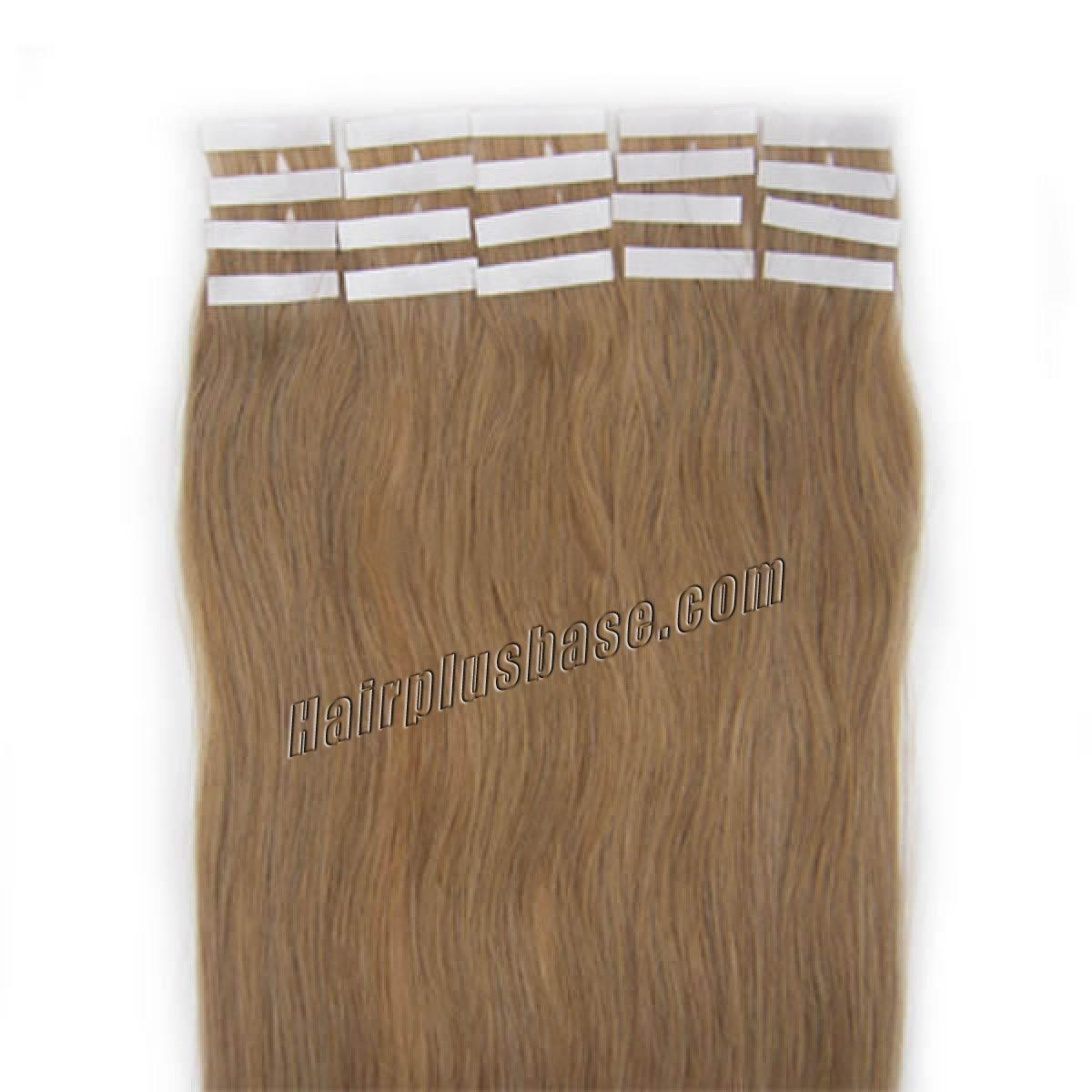16 Inch #16 Golden Blonde Tape In Human Hair Extensions 20pcs no 2