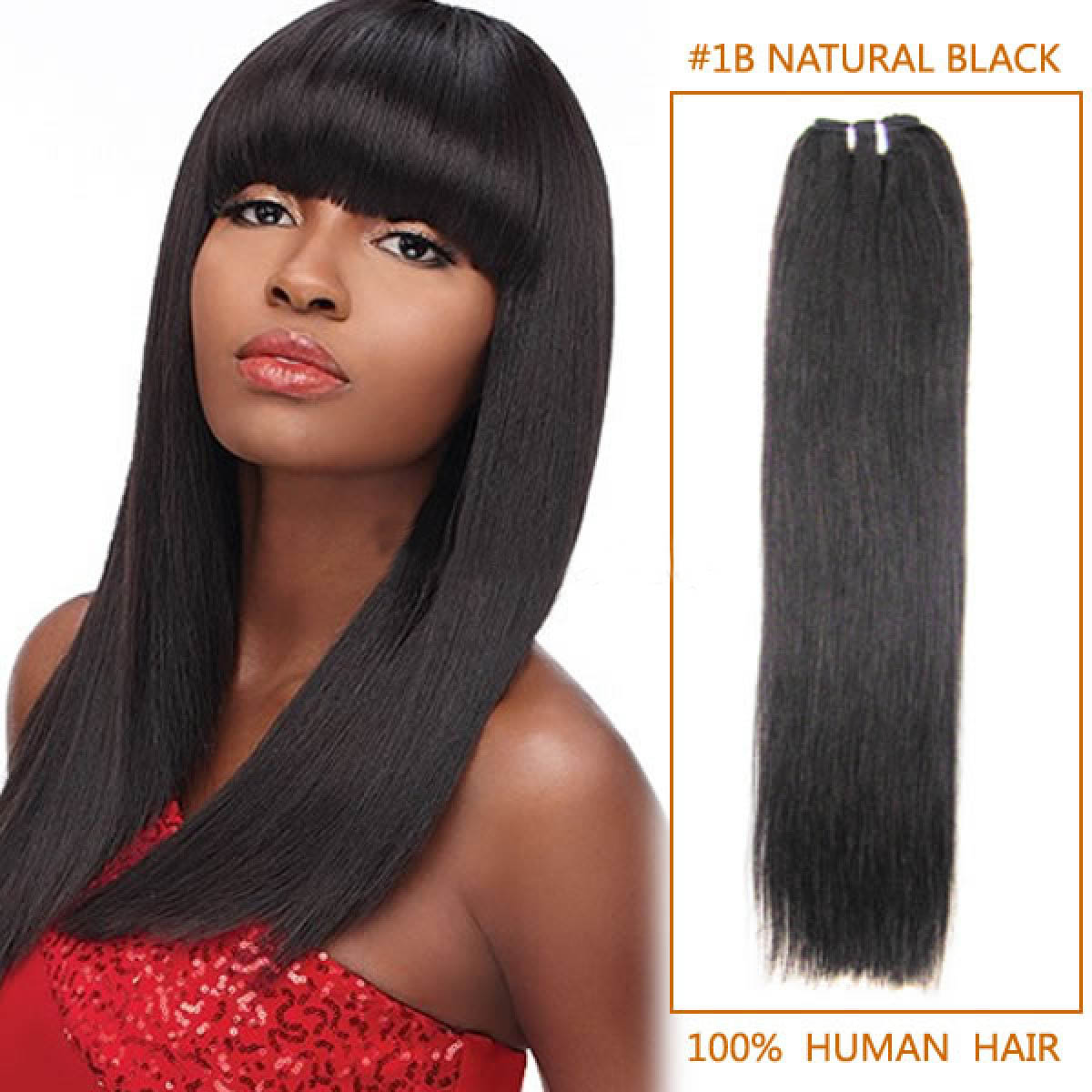 16 Inch  1b Natural Black Straight Indian Remy Hair Wefts 6f274f3de323