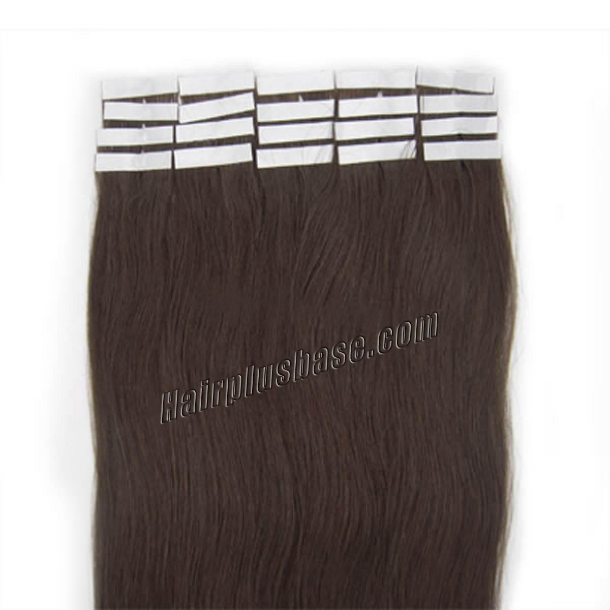 16 Inch #2 Dark Brown Tape In Human Hair Extensions 20pcs no 2