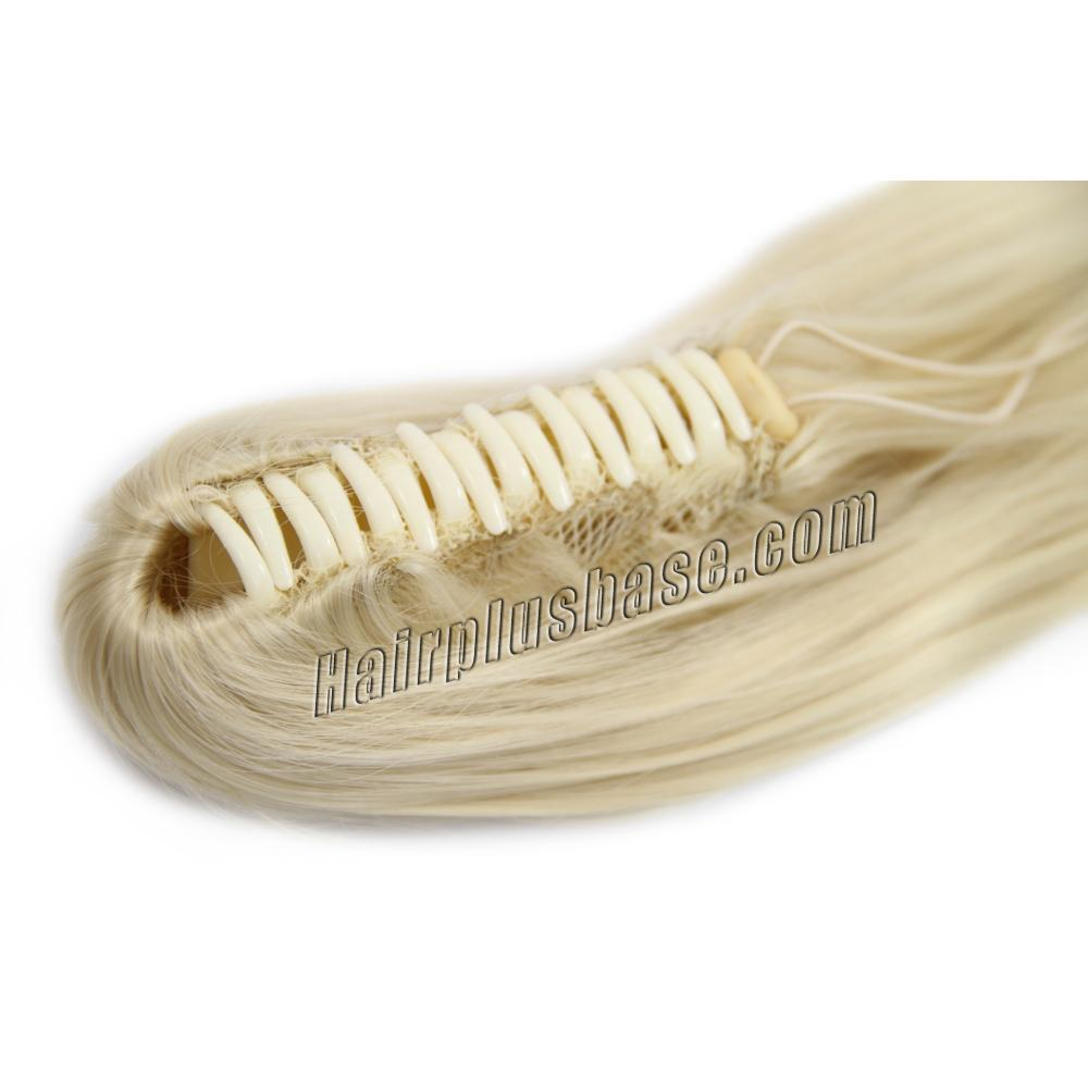 16 Inch Claw Clip Human Hair Ponytail Nice Straight #613 Bleach Blonde no 1
