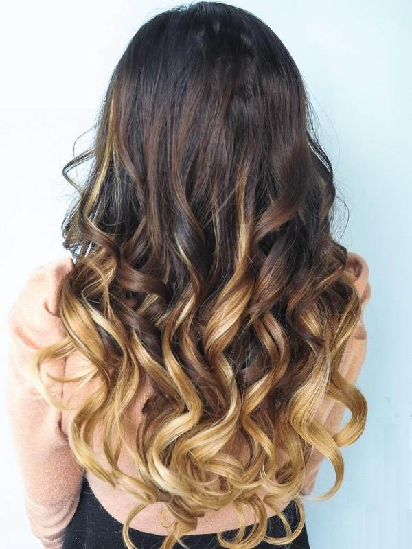 16 Inch Harmonious Ombre Clip In Remy Human Hair Extensions Three