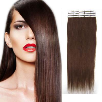 18 Inch #4 Medium Brown Tape In Human Hair Extensions 20pcs