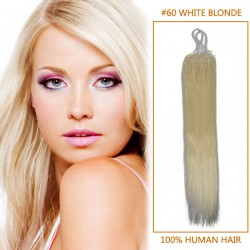 18 Inch #60 White Blonde Micro Loop Human Hair Extensions 100S 100g