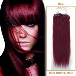 18 Inch Bug Micro Loop Human Hair Extensions 100S