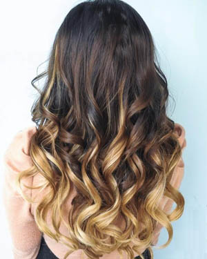 18 Inch Harmonious Ombre Clip In Remy Human Hair Extensions Three Tone Body Wave 9pcs