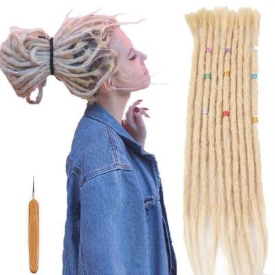 "14 - 20"" 100% Human Hair Dreadlocks Crochet Braided Hair Extensions SE Dreads 5 Strands"