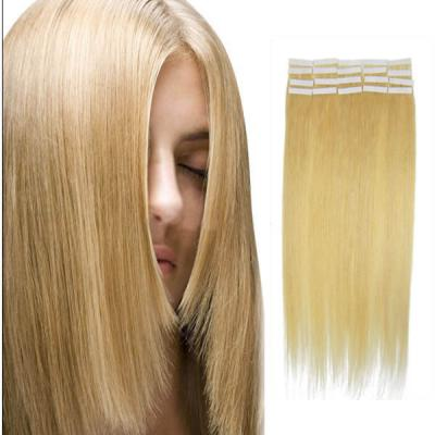 20 Inch #24 Ash Blonde Tape In Human Hair Extensions 20pcs