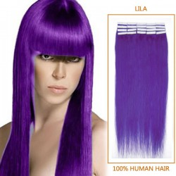 20 Inch Lila Tape In Human Hair Extensions 20pcs