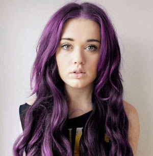 20 Inch Purple Simple Tape In Hair Extensions Straight 10pcs
