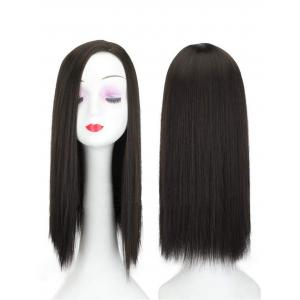 """20"""" Long Straight Hair Toppers for Women with Left Parting, Clip in Top Hairpieces for Thinning Hair"""