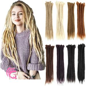 "20pcs 20"" Handmade Dreadlocks Single Ended Locs Synthetic Dreads Hair Extensions"