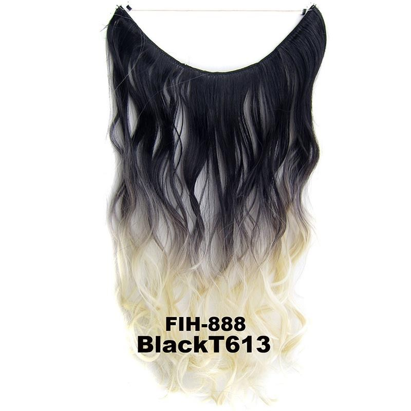 "22"" Hidden Invisible Dip Dye Ombre Wire Secret Miracle Hair Extension Body Wave 2"