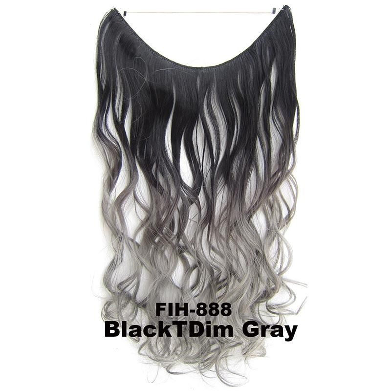 "22"" Hidden Invisible Dip Dye Ombre Wire Secret Miracle Hair Extension Body Wave 3"