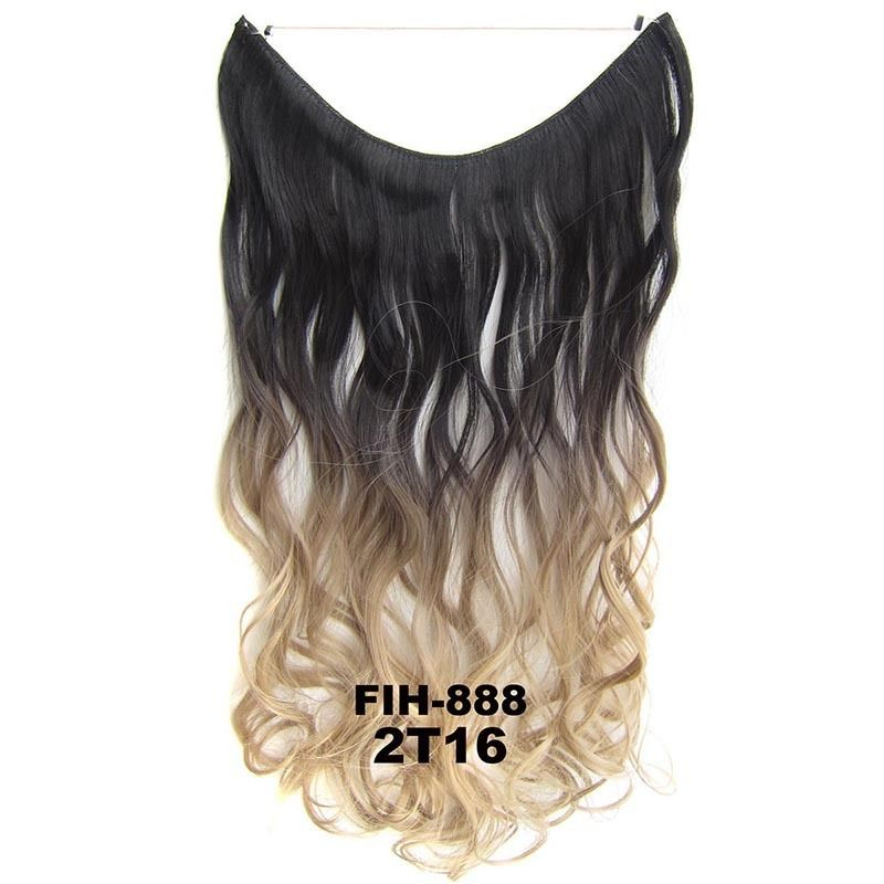 "22"" Hidden Invisible Dip Dye Ombre Wire Secret Miracle Hair Extension Body Wave 4"
