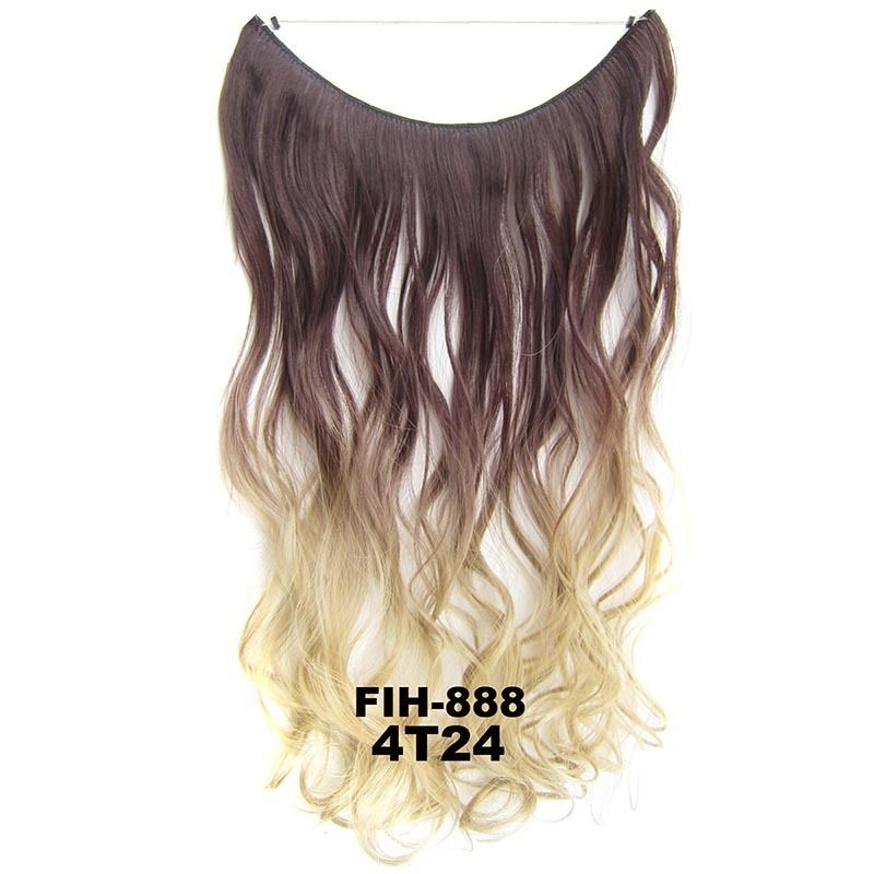 "22"" Hidden Invisible Dip Dye Ombre Wire Secret Miracle Hair Extension Body Wave 5"